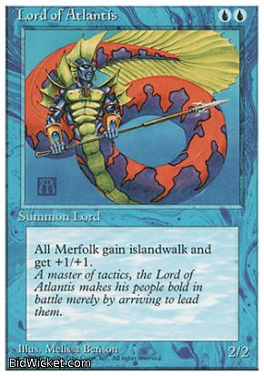 Lord of Atlantis,4th Edition, Magic the Gathering