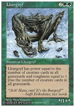 Lhurgoyf, 5th Edition, Magic the Gathering