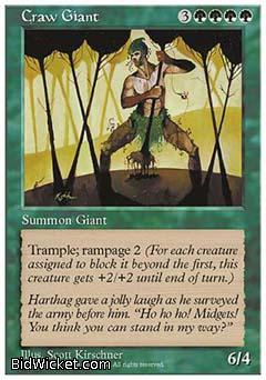 Craw Giant, 5th Edition, Magic the Gathering