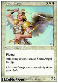 Serra Angel, 7th Edition, Magic the Gathering