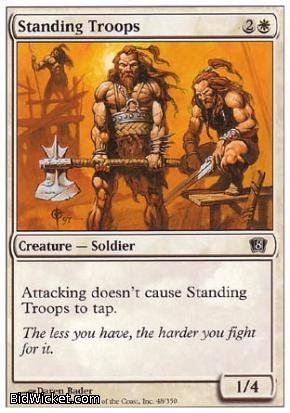 Standing Troops, 8th Edition, Magic the Gathering