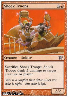 Shock Troops, 8th Edition, Magic the Gathering