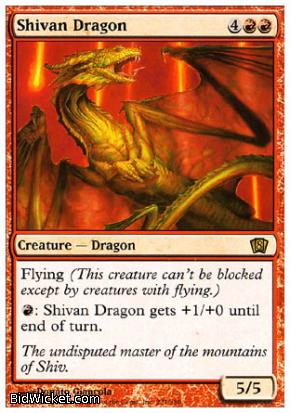 Shivan Dragon, 8th Edition, Magic the Gathering