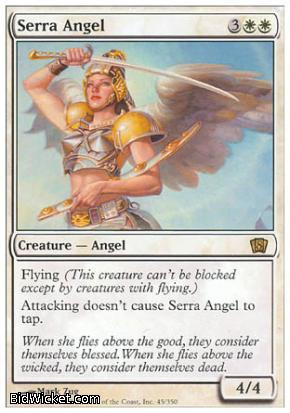 Serra Angel, 8th Edition, Magic the Gathering