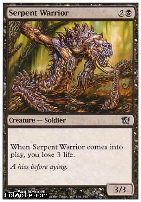 Serpent Warrior, 8th Edition, Magic the Gathering