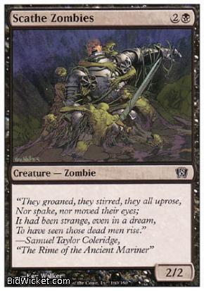 Scathe Zombies, 8th Edition, Magic the Gathering