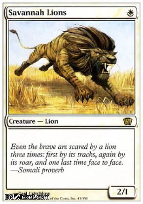 Savannah Lions, 8th Edition, Magic the Gathering