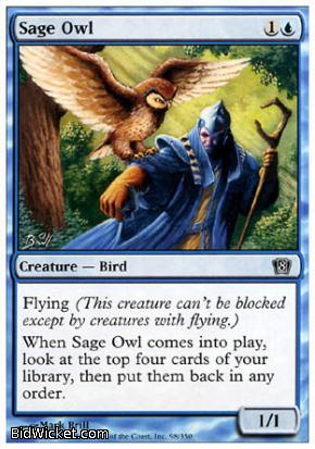 Sage Owl, 8th Edition, Magic the Gathering