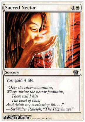 Sacred Nectar, 8th Edition, Magic the Gathering