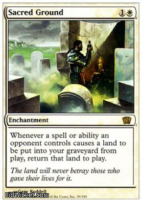 Sacred Ground, 8th Edition, Magic the Gathering