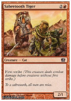 Sabretooth Tiger, 8th Edition, Magic the Gathering
