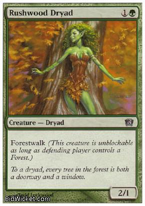 Rushwood Dryad, 8th Edition, Magic the Gathering