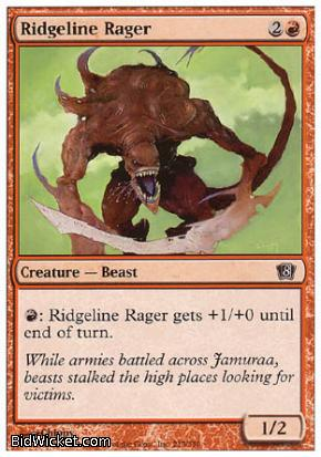 Ridgeline Rager, 8th Edition, Magic the Gathering