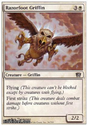 Razorfoot Griffin, 8th Edition, Magic the Gathering