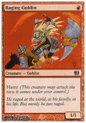 Raging Goblin, 8th Edition, Magic the Gathering