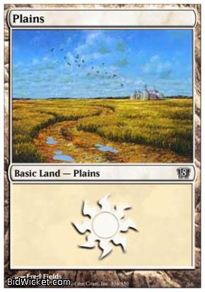Plains (334), 8th Edition, Magic the Gathering