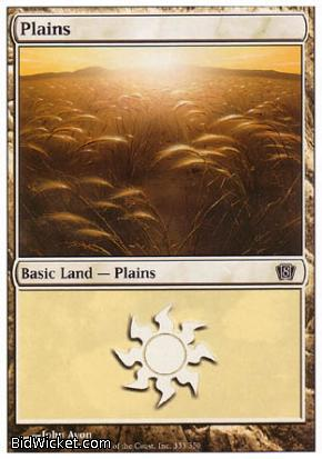 Plains (333), 8th Edition, Magic the Gathering