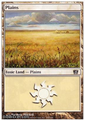 Plains (332), 8th Edition, Magic the Gathering