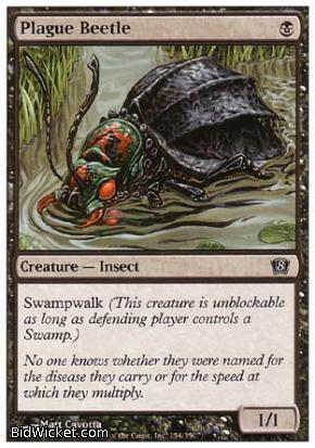Plague Beetle, 8th Edition, Magic the Gathering