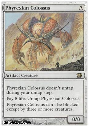 Phyrexian Colossus, 8th Edition, Magic the Gathering