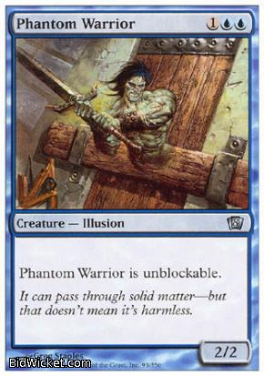 Phantom Warrior, 8th Edition, Magic the Gathering