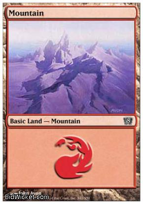 Mountain (344), 8th Edition, Magic the Gathering