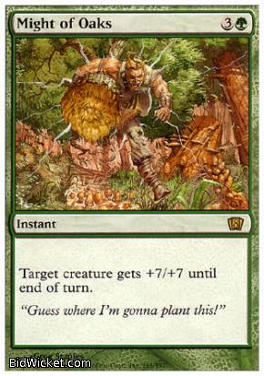 Might of Oaks, 8th Edition, Magic the Gathering