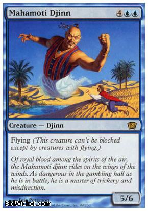 Mahamoti Djinn, 8th Edition, Magic the Gathering