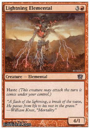 Lightning Elemental, 8th Edition, Magic the Gathering