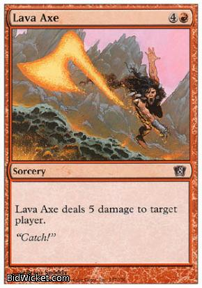 Lava Axe, 8th Edition, Magic the Gathering