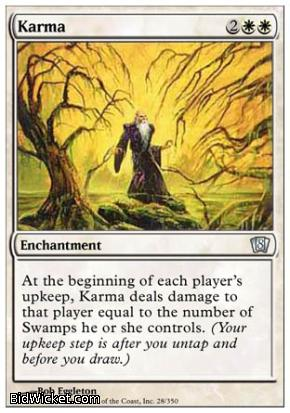 Karma, 8th Edition, Magic the Gathering