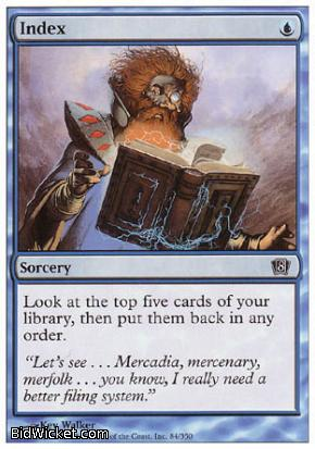 Index, 8th Edition, Magic the Gathering