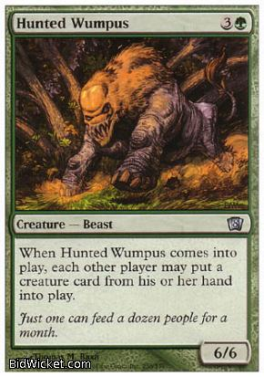 Hunted Wumpus, 8th Edition, Magic the Gathering
