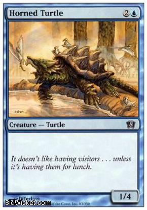 Horned Turtle, 8th Edition, Magic the Gathering