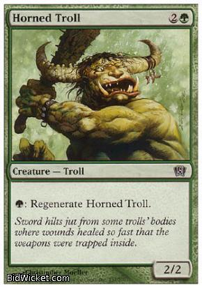 Horned Troll, 8th Edition, Magic the Gathering