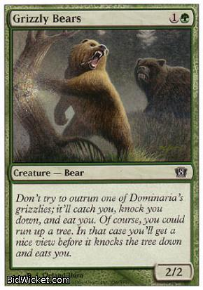 Grizzly Bears, 8th Edition, Magic the Gathering