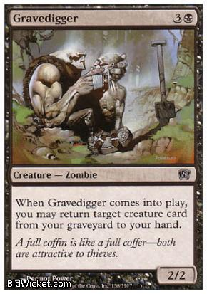 Gravedigger, 8th Edition, Magic the Gathering