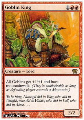 Goblin King, 8th Edition, Magic the Gathering