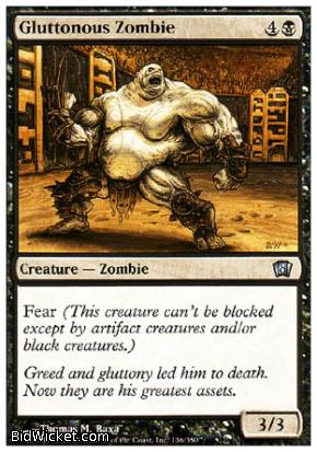 Gluttonous Zombie, 8th Edition, Magic the Gathering