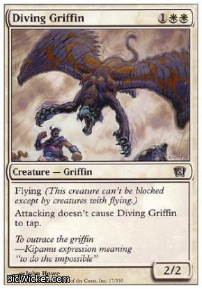 Diving Griffin, 8th Edition, Magic the Gathering