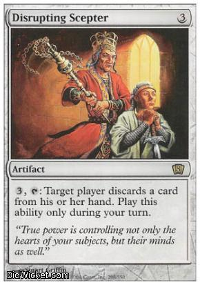 Disrupting Scepter, 8th Edition, Magic the Gathering