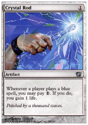Crystal Rod, 8th Edition, Magic the Gathering