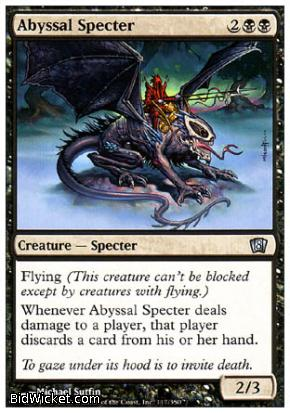Abyssal Specter, 8th Edition, Magic the Gathering