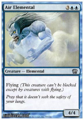 Air Elemental, 8th Edition, Magic the Gathering