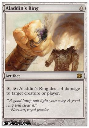 Aladdin's Ring, 8th Edition, Magic the Gathering