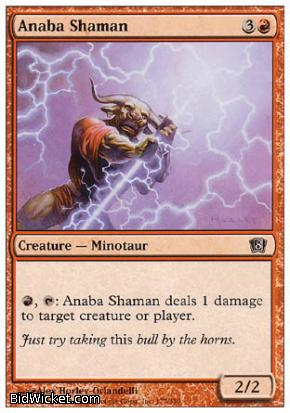 Anaba Shaman, 8th Edition, Magic the Gathering