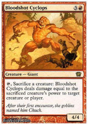 Bloodshot Cyclops, 8th Edition, Magic the Gathering