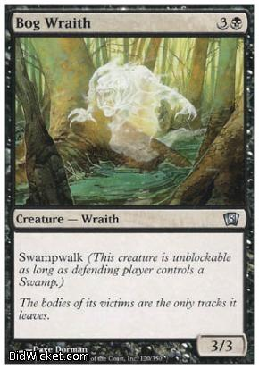 Bog Wraith, 8th Edition, Magic the Gathering