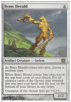Brass Herald, 8th Edition, Magic the Gathering