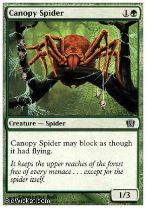 Canopy Spider, 8th Edition, Magic the Gathering